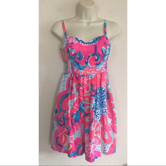 e89aaa63f936 Lilly Pulitzer Dresses | Christine Dress Coral Reef So Jelly | Poshmark